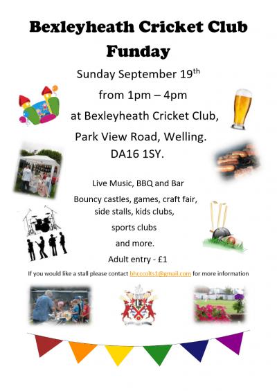 Bexleyheath Cricket Club Fun Day 19th September